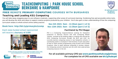 Key Stage 1: Teaching & Leading Computing - REMOTE DELIVERY tickets