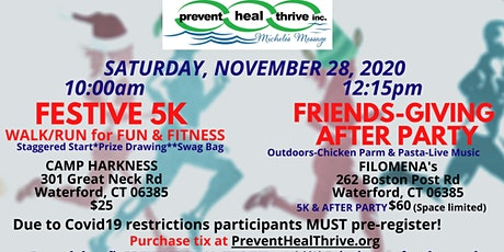 FESTIVE 5K Walk/Run & Filomena's Friends-Giving After Party tickets
