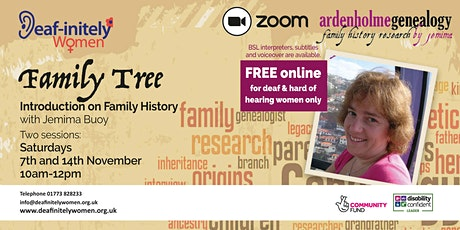 Deaf-initely Women: How To Do Your Family Tree - 14th November tickets
