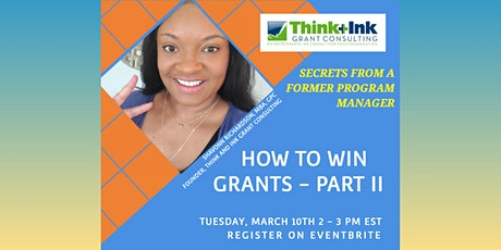 Grantwriting: How to Win Grants- Part II tickets