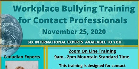 Workplace Bullying: Training for Contact Professionals tickets