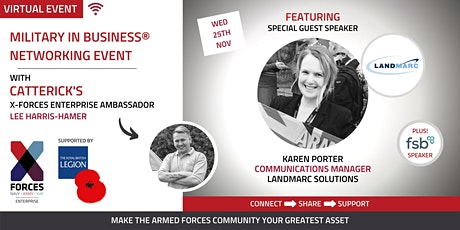 Military in Business Virtual Networking Event: North East tickets