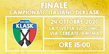 Finale del Campionato Italiano di Klask 2019/2020 biglietti