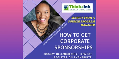 Grantwriting: How to Get Corporate Sponsorships tickets
