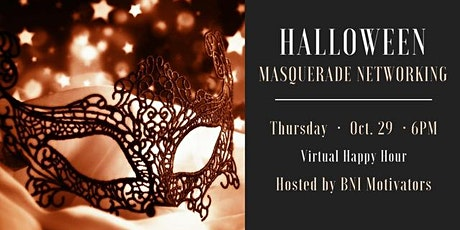 Halloween Masquerade Networking tickets