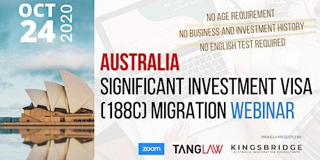 Australia Significant Investment Visa - Migration Webinar (Visa 188C) tickets