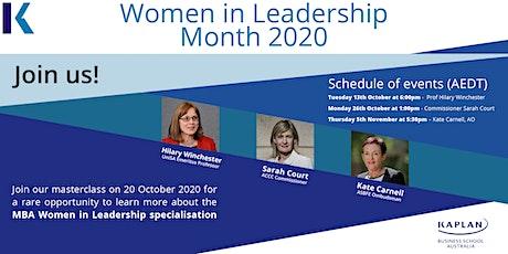 KBS Women in Leadership Month tickets