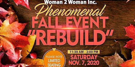 "Phenomenal Fall Event ""Rebuild"" tickets"