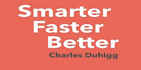 Book Review & Discussion : Smarter Faster Better tickets