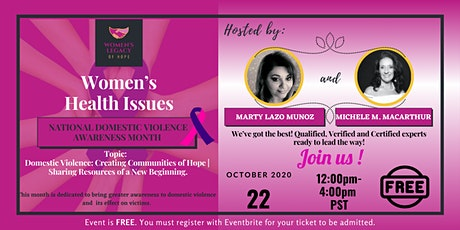 Women's Health Issues:  National Domestic Violence  Awareness Month tickets