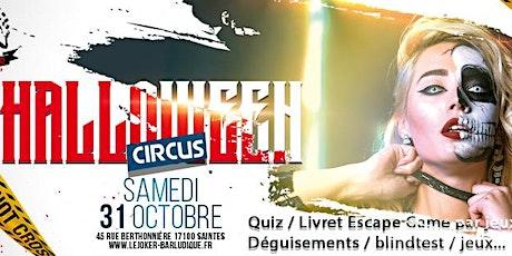 Halloween Circus au Joker Bar de Saintes ! billets