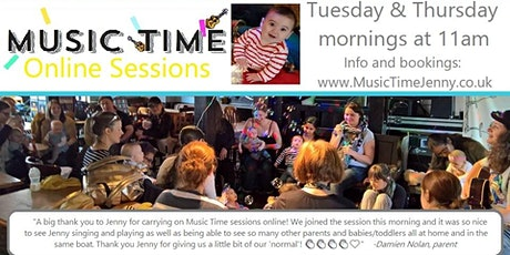 Music Time Online 15th-29th October (Single Sessions) tickets