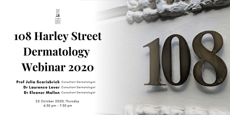 Harley Street London Dermatology Webinar 2020 tickets