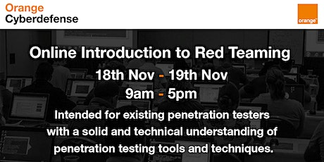 Orange Cyberdefense Virtual Trainings - Introduction to Red Teaming tickets