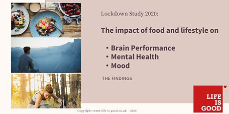 How Nutrition and Lifestyle impact your Mental Health - study findings tickets