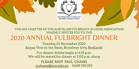 2020 Fulbright Alumni Dinner tickets