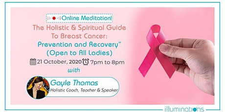 """Free Webinar!""""Pink October: The Holistic & Spiritual Guide To Breast Cancer tickets"""