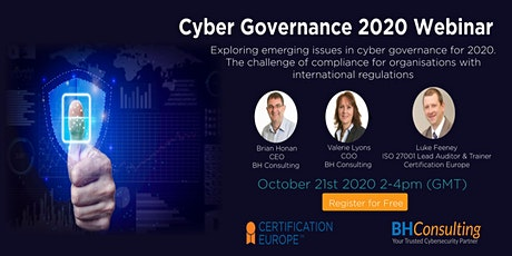 Cyber Governance 2020 tickets