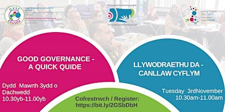 Good Governance – A quick guide /Llywodraethu Da - Canllaw cyflym