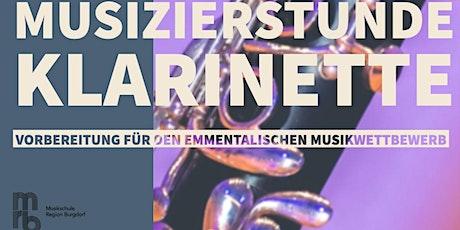 Musizierstunde Klarinette zur Vorbereitung Emmentalischer Musikwettbewerb