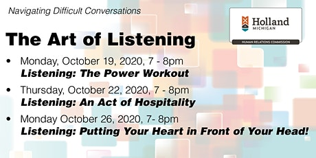 The Art of Listening: Navigating Difficult Conversations Tickets