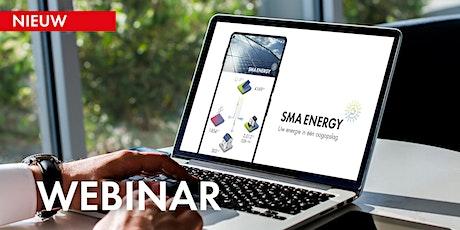 Webinar: SMA Energy App, de app voor uw klanten (NEW) tickets