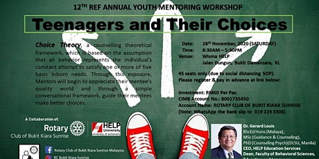 12th REF Annual Youth Mentoring Workshop - Teenagers & Their Choices tickets