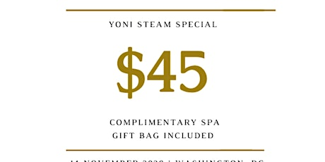 Yoni V-Steam Special tickets