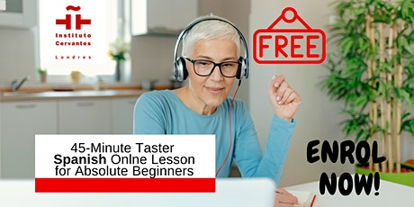 Free Online Beginner Spanish Taster Lesson (45mins) tickets
