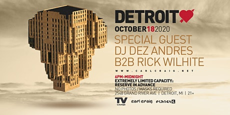 Detroit Love @ TV Lounge 10/22/20 tickets