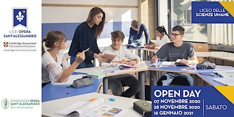 Liceo delle Scienze Umane / Open Day biglietti