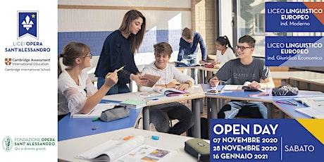 Liceo Linguistico Europeo indirizzo Moderno e Giuridico Economico / OpenDay biglietti