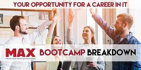 MAX Coding & Career Bootcamp Breakdown   Virtual Open House tickets
