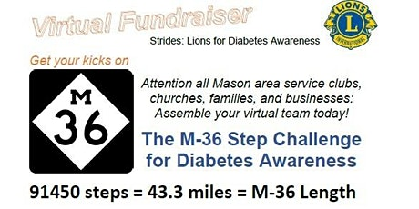 The M-36 Step Challenge for Diabetes Awareness tickets