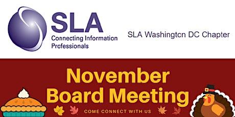 DCSLA November 2020 Board Meeting tickets