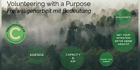 Volunteering with a purpose | Freiwilligenarbeit mit Bedeutung Tickets