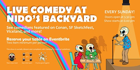 Live Comedy at Nido's Backyard (with Heaters & Distancing) tickets