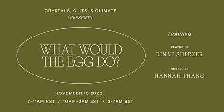 Crystals, Clits, and Climate x What Would The Egg Do? By Rinat Sherzer tickets