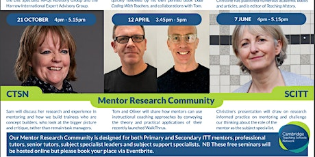 Mentor Research Community with Christine Counsell tickets