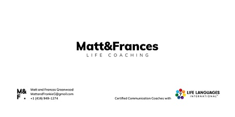 Life LanguagesTM Seminar with Matt and Frances SOM online Fall 2020 tickets