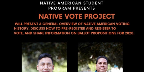 California Native Vote Project Presentation tickets