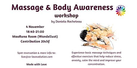 MASSAGE & BODY AWARENESS tickets