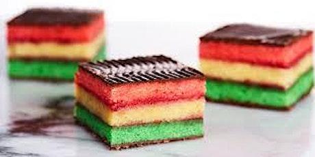 Traditiona Italian Rainbow Cookie Class at Soule' Studio