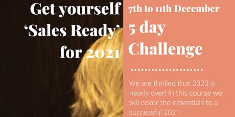 Events & Hospitality: Getting Yourself 'Sales Ready' for 2021 challenge tickets