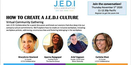 How to Create a J.E.D.I Culture: Virtual Community Gathering tickets