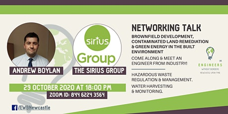 "Networking Talk: ""Brownfield Development"" –Andrew Boylan, The Sirius Group tickets"