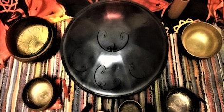 Online Live Soundbath & Meditation - Himalayan Bowls & Hand-pan Relaxation tickets