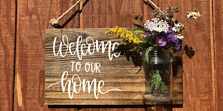 Wooden Welcome Sign Workshop at Point of the Bluff Vineyards tickets