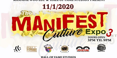The 'Manifest ' Culture expo 3 tickets