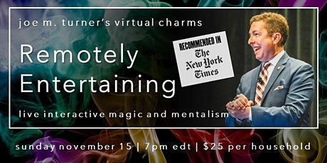 Remotely Entertaining: virtual magic show recommended by The New York Times tickets